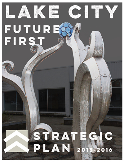 cover of the strategic plan for Lake City Future First