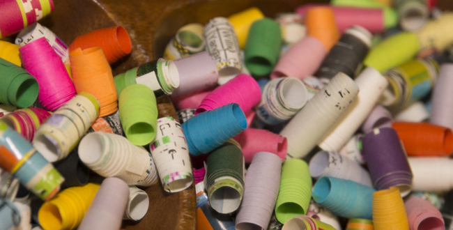 paper beads for making artful necklaces