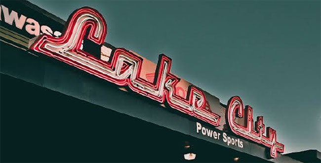 Lake City Power Sports neon sign