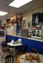 Many of the items decorating the walls were collected by the owner or donated by customers.
