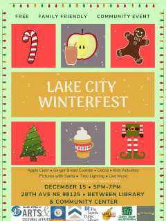 Lake City Winterfest / Holiday Tree Lighting @ Between Lake City Community Center and Library