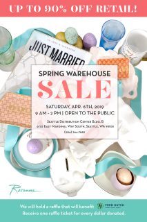 Georgetown - Spring Warehouse Sale April 6th @ Rosanna in Georgetown